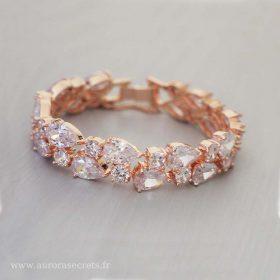 Bracelet mariée chic diamant zircon, bijou luxueux Virginie