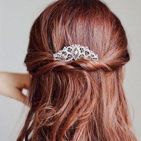 Peigne coiffure mariage, bijou cheveux en cristal