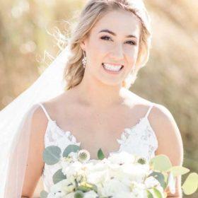 Boucles d'oreilles pour mariée rose gold cristal