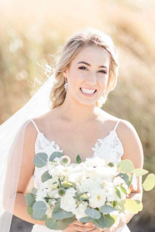 """Boucles d'oreilles pour mariée rose gold cristal """"Claudia"""""""