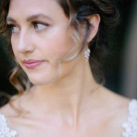 Boucles d'oreilles pour mariée rose gold cristal Claudia
