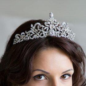 Diadème mariage diamanté, couronne en cristal Zircon