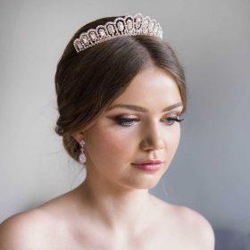 Diadème mariage princesse cristal, accessoire de cheveux de luxe Miya