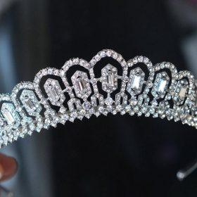 Diadème mariage princesse cristal, accessoire de cheveux de luxe Mia
