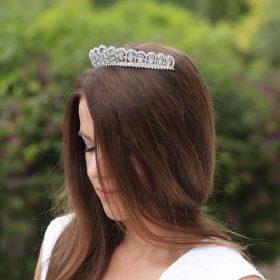 Diadème mariage princesse cristal, accessoire de cheveux de luxe Mia 2