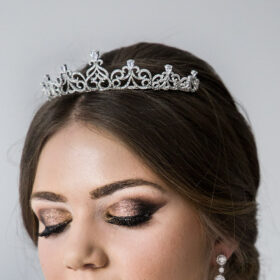 Diadème mariage cristal Swarovski, tiare princesse Isabelle