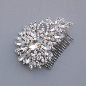 Peigne coiffure mariage, bijoux de cheveux cristal