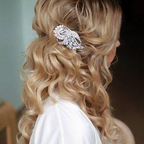 """Peigne coiffure mariage, bijoux de cheveux cristal """"Dorothée"""""""