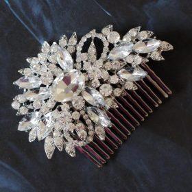 Peigne coiffure mariage, bijoux de cheveux cristal Linda