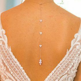 """Bijou de dos pour votre collier de mariée rose gold """"Colline"""""""