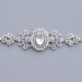 "Bracelet de mariage rétro vintage cristal strass ""Yolanda"""