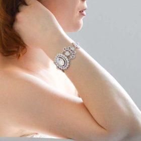 Bracelet de mariage rétro vintage cristal strass
