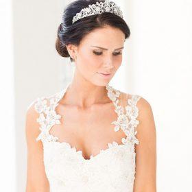 Diadème mariage princesse, tiare strass Katy 2
