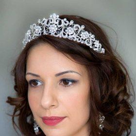 Diadème mariage princesse, tiare strass Katy