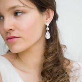 boucles oreilles mariage pendantes