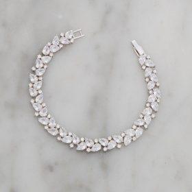 Bracelet mariage original oxydes de zirconium Caroline