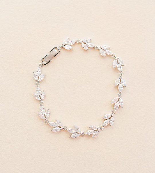 Bracelet pour mariée élégant cristal Zircon