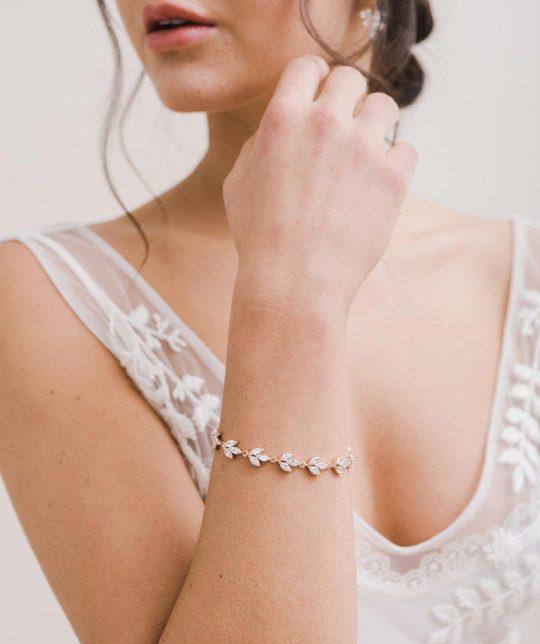 Bracelet pour mariée élégant cristal Zircon Cassiopeia