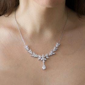 Collier mariage cristal création originale Ophélie
