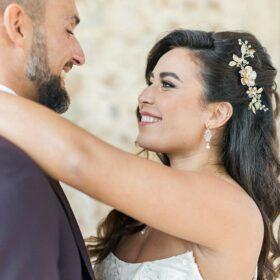 """Parure de bijoux mariage création en cristal et perles Swarovski """"Sophie"""""""