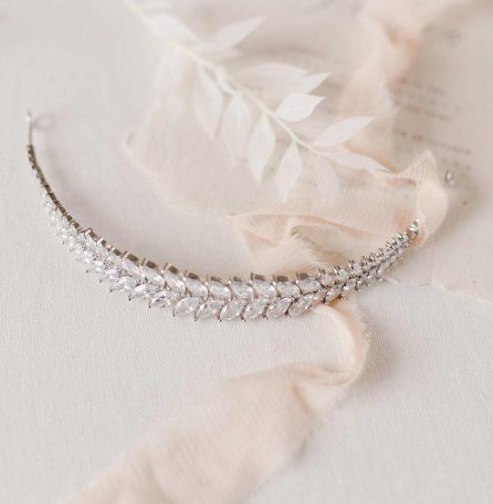 "Tiare mariage, bijou de cheveux de luxe ""Theodora"""