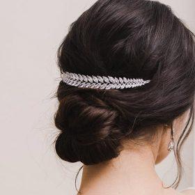 Tiare mariage, bijou de cheveux de luxe