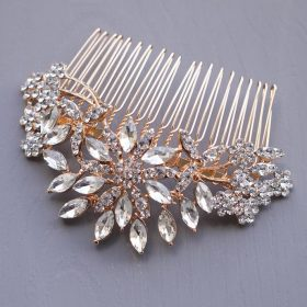 "Bijou cheveux mariage rose gold, peigne coiffure mariée ""Theodora"""