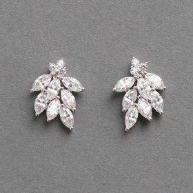 Boucles d'oreilles mariage romantiques en cristal Zircon