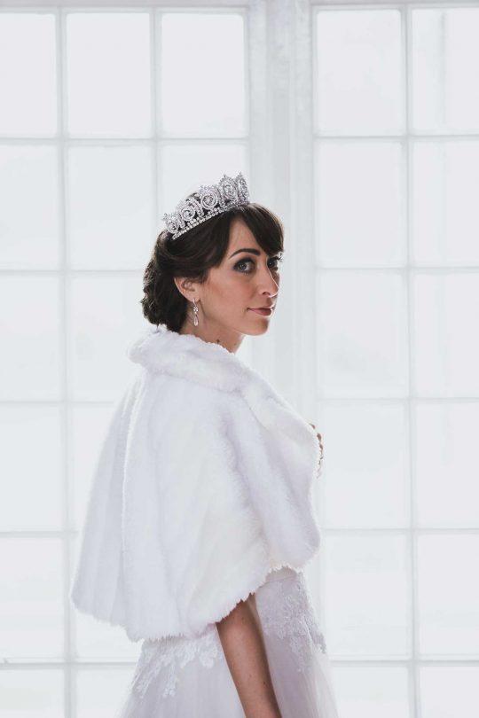 Couronne princesse mariage, diadème de luxe diamantée Olivia 2