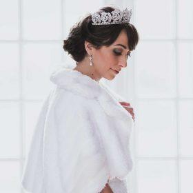 Couronne princesse mariage, diadème de luxe diamantée