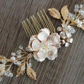 Accessoire cheveux mariage bohème bijou coiffure fleurs perles