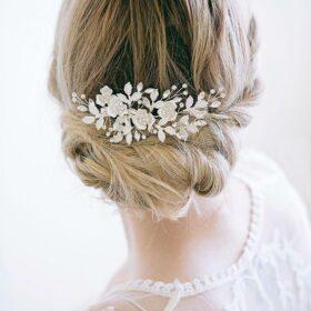 Bijou cheveux mariée fleurs, pince coiffure champêtre chic Anastasia