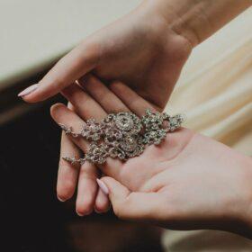 Boucles d'oreilles mariée chandelier longues Art-dec