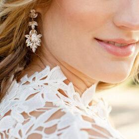 "Boucles d'oreilles mariée pendantes originales ""Doria"""