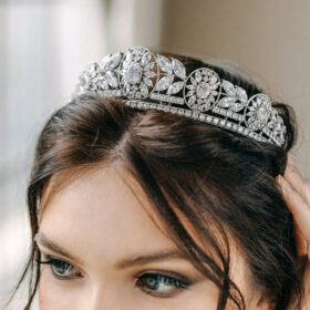 Accessoire de coiffure mariage, diadème princesse diamanté