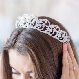 Diadème princesse Diana, tiare mariage royale diamantée