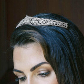 Diadème princesse, tiare mariage diamantée Delphine